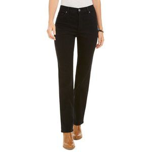 NEW Style & Co Black High Rise Straight Fit Jeans